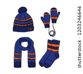 winter clothes  hat  scarf ...   Shutterstock .eps vector #1203246646