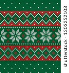 knitted christmas and new year... | Shutterstock .eps vector #1203252103