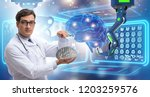 telehealth concept with doctor... | Shutterstock . vector #1203259576