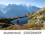 Hiker Looking At Lac De...