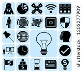 set of 22 business icons ...   Shutterstock .eps vector #1203277909