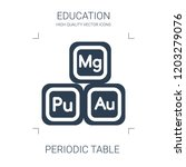 periodic table icon. high... | Shutterstock .eps vector #1203279076
