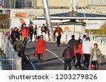 vilnius  lithuania   october 12 ...   Shutterstock . vector #1203279826