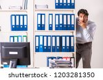young male employee working in...   Shutterstock . vector #1203281350