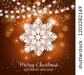 merry christmas and happy new... | Shutterstock .eps vector #1203282169