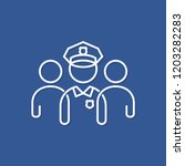 policeman line concept. police... | Shutterstock .eps vector #1203282283