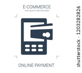 online payment icon. high... | Shutterstock .eps vector #1203282826