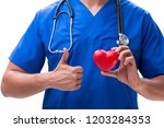 young doctor in heart care...   Shutterstock . vector #1203284353
