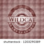 wildcat red geometric pattern... | Shutterstock .eps vector #1203290389