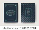 christmas greeting card design... | Shutterstock .eps vector #1203290743