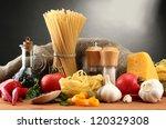 Pasta Spaghetti  Vegetables An...