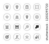 solution icon set. collection... | Shutterstock .eps vector #1203295720