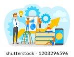 little business people working... | Shutterstock .eps vector #1203296596