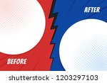template before and after... | Shutterstock .eps vector #1203297103
