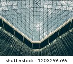 minimal abstract architectural... | Shutterstock . vector #1203299596