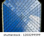 minimal abstract architectural... | Shutterstock . vector #1203299599