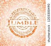 jumble orange mosaic emblem...   Shutterstock .eps vector #1203300490