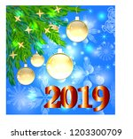 christmas background with a red ... | Shutterstock .eps vector #1203300709