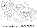 coloring book for adult and... | Shutterstock .eps vector #1203300733