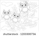 coloring book for adult and... | Shutterstock .eps vector #1203300736