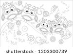 coloring book for adult and... | Shutterstock .eps vector #1203300739