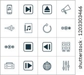 music icons set with refresh ... | Shutterstock .eps vector #1203303466