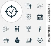 executive icons set with... | Shutterstock .eps vector #1203303643