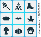 season icons set with boot ... | Shutterstock .eps vector #1203303670