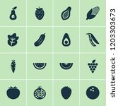 vegetable icons set with... | Shutterstock .eps vector #1203303673