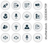 job icons set with effective... | Shutterstock .eps vector #1203304759