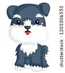 a happy standing schnauzer | Shutterstock .eps vector #1203306553