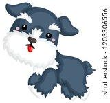 an illustration of a schnauzer... | Shutterstock .eps vector #1203306556