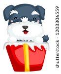 a schnauzer on a box | Shutterstock .eps vector #1203306559