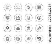 info icon set. collection of 16 ... | Shutterstock .eps vector #1203312259
