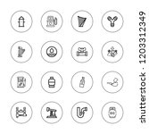 pipe icon set. collection of 16 ... | Shutterstock .eps vector #1203312349