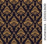 vector beautiful damask pattern.... | Shutterstock .eps vector #1203313630