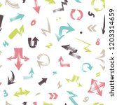 seamless pattern with colorful...   Shutterstock .eps vector #1203314659