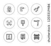 manual icon set. collection of... | Shutterstock .eps vector #1203319486