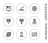 gourmet icon set. collection of ...   Shutterstock .eps vector #1203319576