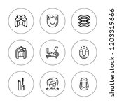 attractive icon set. collection ... | Shutterstock .eps vector #1203319666