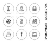 hanger icon set. collection of... | Shutterstock .eps vector #1203319726