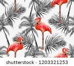 beautiful seamless vector... | Shutterstock .eps vector #1203321253