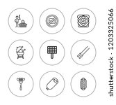 sausage icon set. collection of ... | Shutterstock .eps vector #1203325066