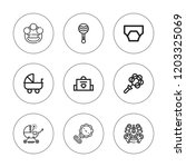 carriage icon set. collection...   Shutterstock .eps vector #1203325069