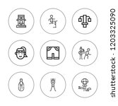jogging icon set. collection of ... | Shutterstock .eps vector #1203325090