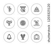 traditional icon set.... | Shutterstock .eps vector #1203325120