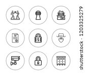 private icon set. collection of ... | Shutterstock .eps vector #1203325279