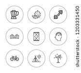 lifestyle icon set. collection...   Shutterstock .eps vector #1203331450