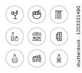 whiskey icon set. collection of ... | Shutterstock .eps vector #1203331480