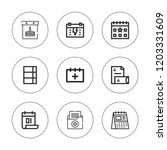 binder icon set. collection of...
